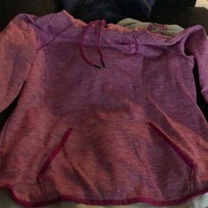 Pink heather under armour hoodie